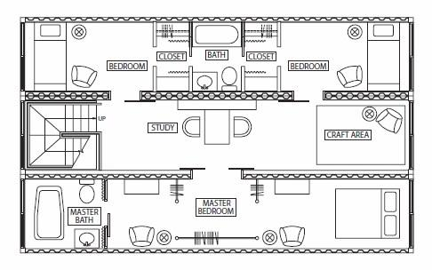 3 container house plans. Shipping container home Second floor