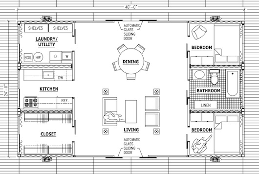 Superbe Container Homes Plan   Floor