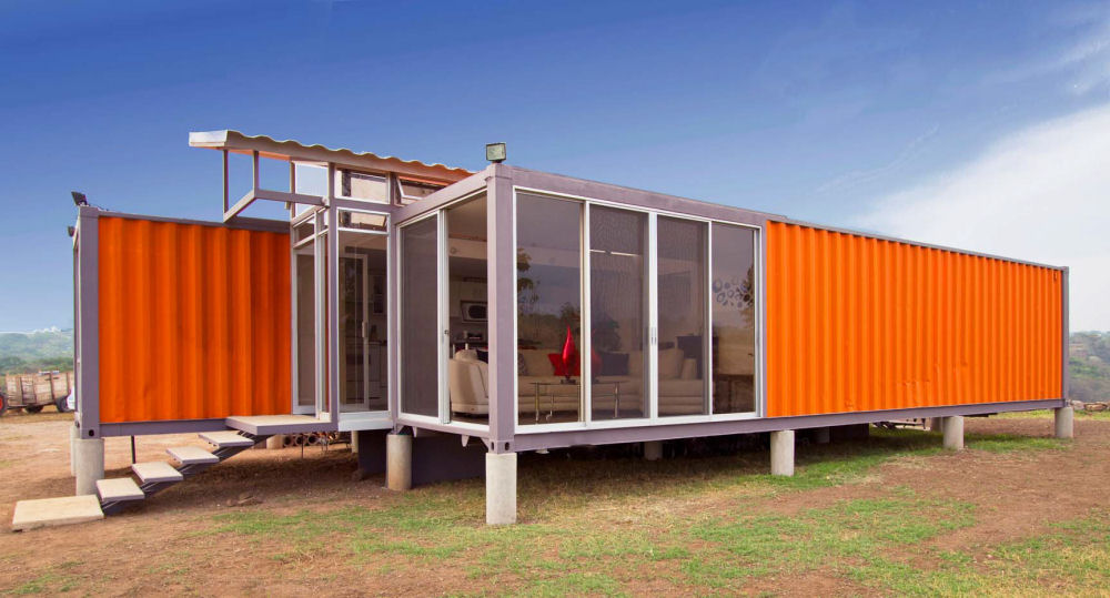 Container build a cheap house shipping container house for Building an affordable house